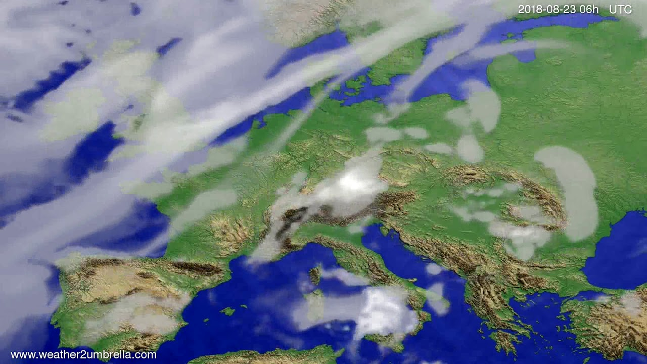 Cloud forecast Europe 2018-08-20
