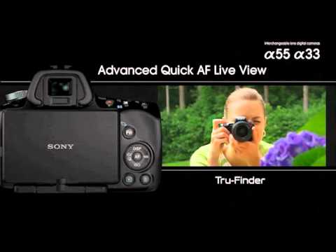 Sony Alpha SLT A55 A33 Official English Promo Video Commercial Ads