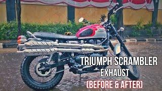 4. 2016 Triumph Scrambler Exhaust Sound (Before & After)