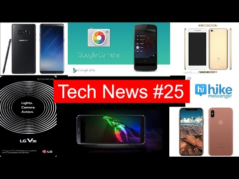 Tech News #25 Facebook New App, Hike Acquired, Redmi 5A, Note 8, IPhone 8 delay, LG V30 & V30 plus