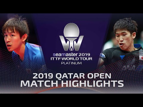 Koki Niwa Vs Maharu Yoshimura | 2019 ITTF Qatar Open Highlights (R32)