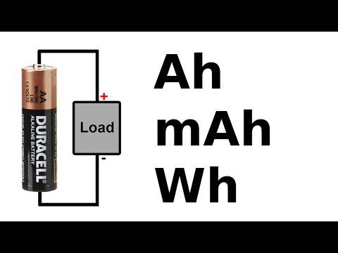 Battery amp-hour, watt-hour and C rating