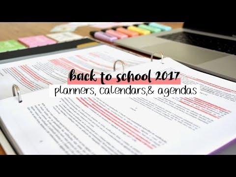 Back to School 2017 #6 // 17 Planners, Calendars, Agendas SHOWDOWN + FREE PRINTABLE CALENDAR