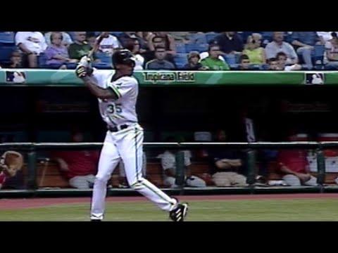 Melvin Upton Jr.'s first big league home run (видео)