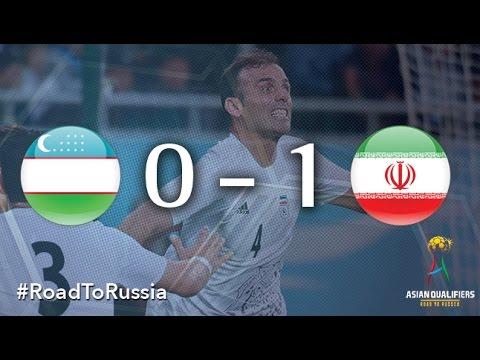 Узбекистан - Иран 0:1. Видеообзор матча 06.10.2016. Видео голов и опасных моментов игры