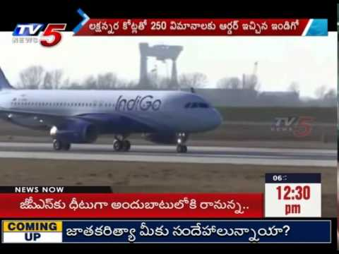 Indigo Airlines Signs Huge Deal With European Aircraft  : TV5 News