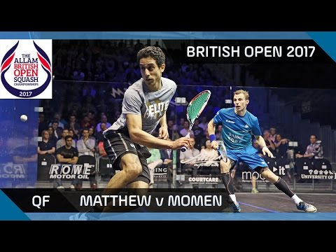 Squash: Matthew v Momen - British Open 2017 QF Highlights