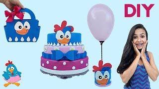 Como decorar bolo - DIY Ideias Para Festa de Aniversário  Tema Galinha Pintadinha