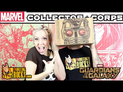 Marvel Collector Corps GUARDIANS OF THE GALAXY (December 2015) Unboxing Review