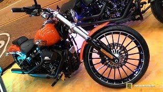8. 2017 Harley Davidson Breakout Laguna Customized Bike - Walkaround - 2017 Montreal Motorcycle Show