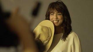 完璧にTAMA美人を演じた松本薫の撮影風景/多摩市交通広告動画メイキング