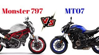 5. Ducati Monster 797 vs Yamaha MT07