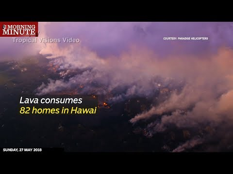 Lava consumes 82 homes in Hawaii
