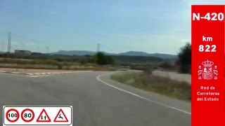 Falset Spain  City pictures : N-420 Tarragona , Zona Falset / Province of Tarragona - Highways in Spain