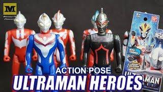 Ultraman Action Pose : DYNA & Ultra Seven DARK (Hanya di INDOMARET)
