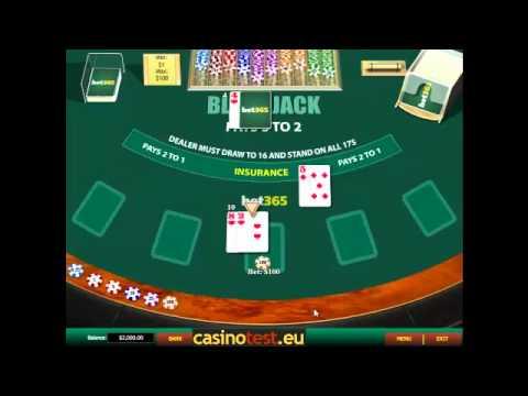 Blackjack Surrender Video