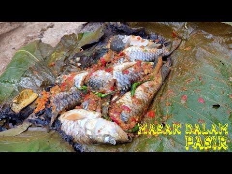 TRADISIONAL COOKING masak dalam pasir ikan hasil alam...