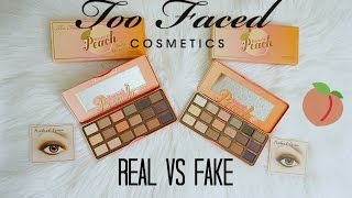 REAL vs FAKE $10: Too Faced Sweet Peach Palette (How To Spot)