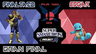 My Local scene in Ciudad Guayana, Venezuela: Fair Win 2015 – Grand Final – FinalTaco (C. Falcon) vs Edgar (Squirtle)
