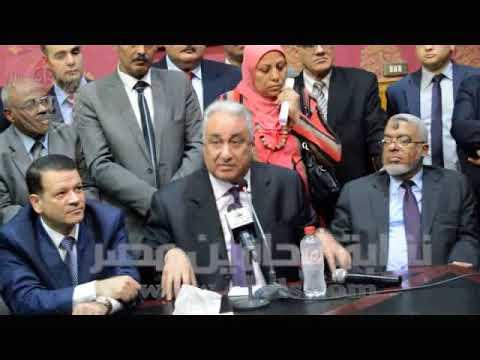 محمد عثمان اثناء الاحتفال بافتتاح مقر المحامين بدار القضاء العالى