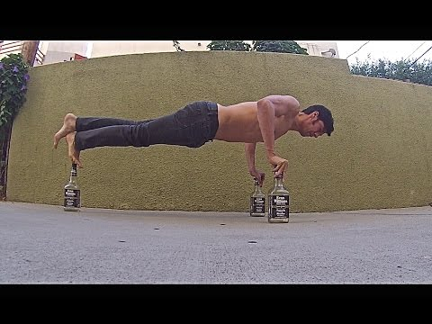 Watch Whiskey Bottle Push Ups wow