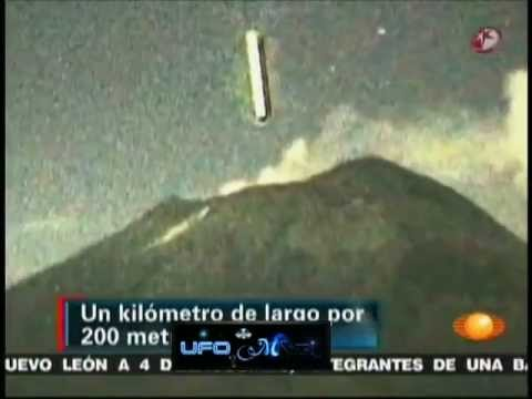 ufo entra dentro il vulcano popocatepetl - originale