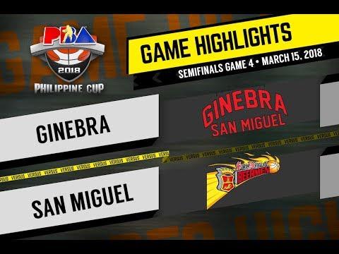 PBA Philippine Cup 2018 Highlights: San Miguel vs Ginebra Mar. 15, 2018 (видео)