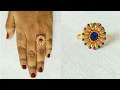 DIY // How To  Make Designer Party Wear Ring // Multi Colour Ring // Home Made Tutorial