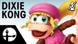 Dixie Kong Smashified - Time Lapse Painting (No Commentary, Music by Nathanael Platier)