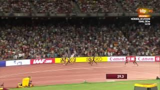 400 m World Championships Beijing 2015  Allyson Felix            49.26s WLShaunae Miller       49.67s PBShericka Jackson 4.99s   PB