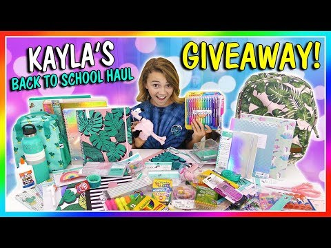 KAYLA'S BACK TO SCHOOL SUPPLIES HAUL & GIVEAWAY 2018! | We Are The Davises