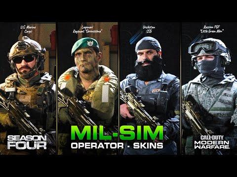 "NEW Season 4 ""MIL-SIM"" Operator Skins for ALLEGIANCE (and Coalition) | Modern Warfare"
