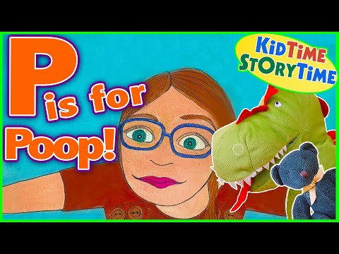 P is for Poop 😮Funny ABC Book for Children Read Aloud 🚽