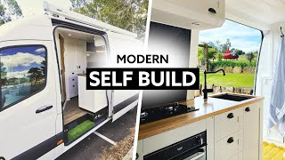Modern SELF-BUILD CAMPER 🚐 // SOLO FEMALE Swaps HOUSE For Full-Time VANLIFE // LWB MERCEDES SPRIN by Nate Murphy