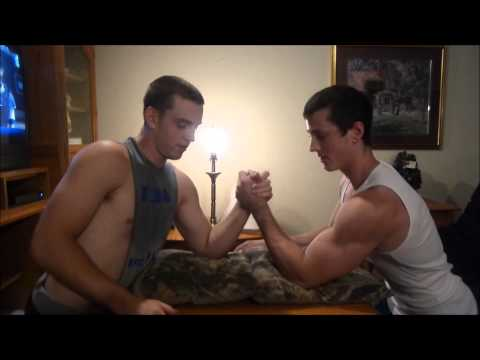 Zach Puts Young Bodybuilder Strength To The Test Armwrestling