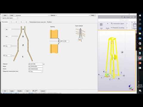 Đào tạo Tekla - Mô hình tháp thép