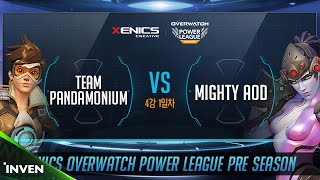 제닉스배 오버워치 파워리그 프리시즌 4강 1경기 2세트 TEAM PANDAMONIUM VS Mighty AOD