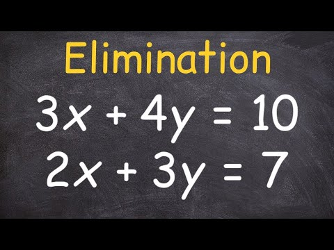 Solving a System of Equations Using Elimination and Multipliers