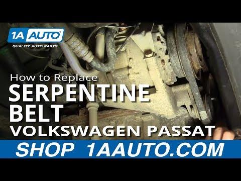 How To Install Replace Alternator Power Steering Engine Belt Volkswagen Passat 1.8T 1AAuto.com