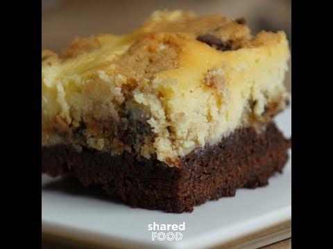 Cookies & Milk Cheesecake Brownie Bars
