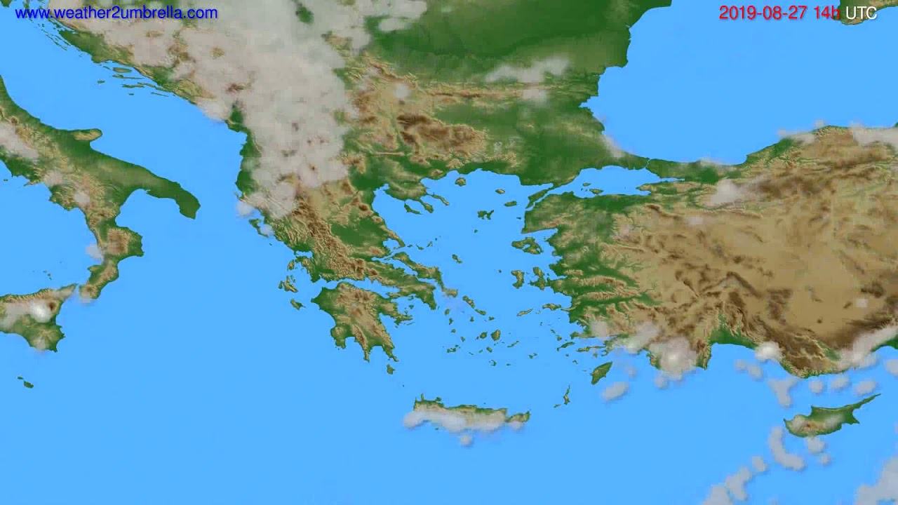 Cloud forecast Greece // modelrun: 00h UTC 2019-08-25