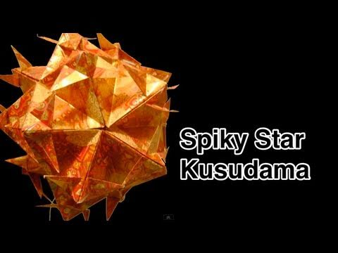 Kusudama Tutorial - 008 -- Spiky Star