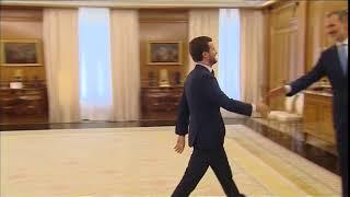 S.M. el Rey recibió en audiencia al presidente de Partido Popular, Pablo Casado Blanco