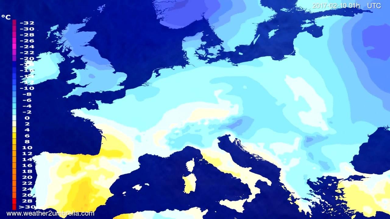 Temperature forecast Europe 2017-02-07