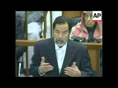 Two days after receiving death sentence, Saddam back in court