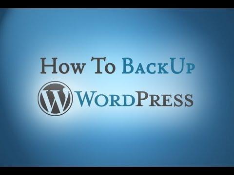 Free WordPress BackUp Plugin – How To Video
