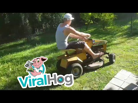 Riding Lawn Mower Gone Wrong!