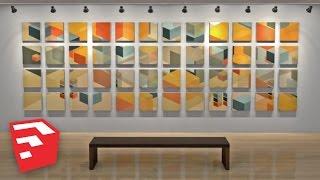 Digital Builds - Art Gallery in SketchUp 8