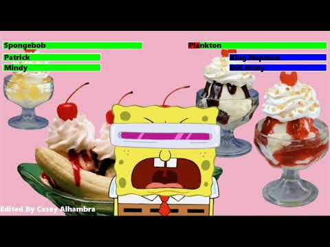The SpongeBob SquarePants Movie (2004) Final Battle with healthbars