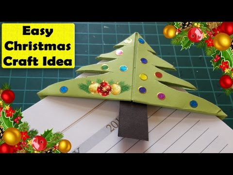 Easy Christmas Tree Bookmark